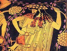 Baco (Dionísio, em grego) é Deus do vinho, das festas, da diversão, do prazer da loucura e exagero. Contudo também é um Deus voltado ao misticismo e ao espírito. Segundo os mitos órficos, Zagreu, filho de Júpiter (Zeus) com Proserpina (Perséfone), foi o filho preferito de Júpiter, porém, Juno, ensiumada, ordenou que os Titãs o matassem e o devorassem. Eles o fizeram, e logo depois Júpiter matou os Titãs com raios. Minerva resgatou o coração de Zagreu, ainda inteiro.