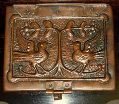 Rare arts & crafts john #pearson copper box love birds and #olive branch  #newlyn,  View more on the LINK: 	http://www.zeppy.io/product/gb/2/161992530054/