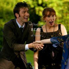 The best of times, indeed! one of my favorite duos :)Click for the best DoctorWho tumblr ever.