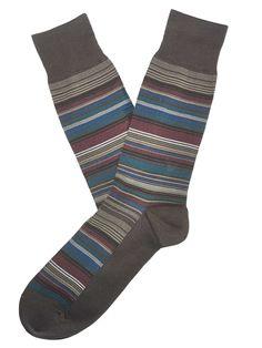 #FashionVault #perry ellis #Men #Accessories - Check this : Perry Ellis Multi Color Stripe Portfolio Sock for $9 USD