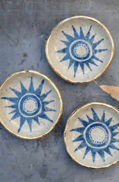 Sun Patterned Bowls | Etsy