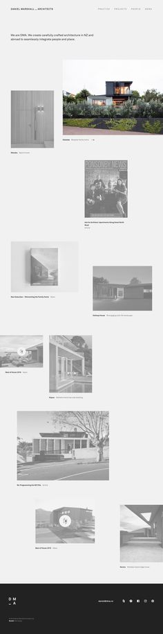 Daniel Marshall Architects http://mindsparklemag.com/website/daniel-marshall-architects/ DMA - Daniel Marshall Architects create carefully crafted architecture in NZ and abroad to seamlessly integrate people and place site of the day website webdesign sotd minimal grey  mindsparkle mag