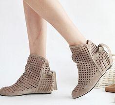 "Special Offer Fashion and Casual Openwork Lacing Round Head Design Women's Boots Color: BEIGE Size: 36, 38, 39 Category: Shoes > Women's Shoes > Womens Boots   Product Details: GenderFor WomenBoot TypeFashion Boots Boot HeightAnkleToe ShapeRound Toe Heel TypeIncreased InternalHeel Height RangeLow(0.75-1.5"") Closure TypeSlip-OnShoe WidthMedium(B/M) Pattern TypeSolidEmbellishmentHollow Out  #bestdealonwomensboots #bestdealonboots #womensboots #boots #bridgat.com"