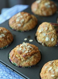 Havremuffins_1 Greens Recipe, Scones, Muffins, Protein, Food And Drink, Cupcakes, Snacks, Baking, Breakfast