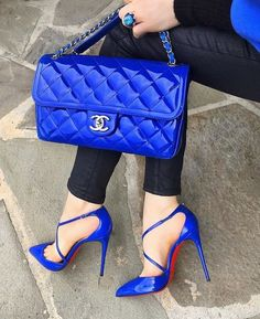 Chanel small bag blue #chanelsmallbag Chanel Small Bag, Chanel Purse, Chanel Bags, Hermes Bags, Blue Bags, Fendi, Gucci, Burberry, Balenciaga