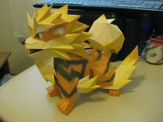 Arcanine from Pokemon. Papercraft is actually pretty cool.