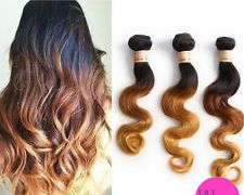 Ombre Brazilian Remy 50G Body Wave Wavy Virgin Unprocessed Human Hair Extensions