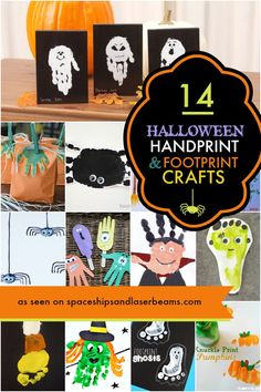 Are you looking for a craft idea even your youngest can do? All the kids will have fun making Halloween Handprint and Footprint Crafts!