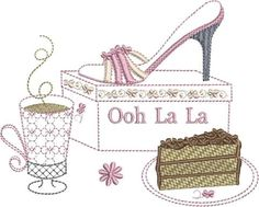 Stay in style with this quilted handbag pictured with a Ooh La La machine embroidered shoe design. Embroidery Software, Embroidery Supplies, Custom Embroidery, Embroidery Thread, Machine Embroidery Designs, Butterfly Project, Free Design, Pattern Design, Polka Dots