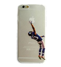 Odell Beckham Jr. transparent iphone 6 case number 13 NFL New York Giants  For men