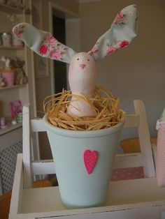 Tilda Hare in Pot by Faerie Nuff
