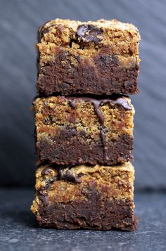 Cookie Dough Brownies Vegan, Gluten-free & Sweetened With Dates - UK Health Blog - Nadia's Healthy Kitchen