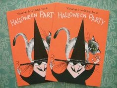 2 Vintage Mid-Century Halloween Party by SongbirdSalvation on Etsy