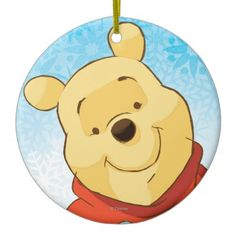 Pooh With Gift Christmas Tree Ornament