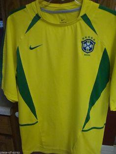 Nike Futbol Soccer BRASIL CBF Brazil Mens LARGE Jersey World Cup Shirt Mens   WorldCup2014   187581f84178f