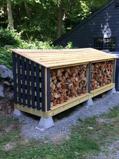 Best DIY Outdoor Firewood Rack Ideas You want to build a outdoor firewood rack? Here is a some firewood storage and creative firewood rack ideas for outdoors. Lots of great building tutorials and DIY-friendly inspirations! Outdoor Firewood Rack, Firewood Holder, Firewood Shed, Firewood Storage, Outdoor Storage, Wood Storage Sheds, Backyard Sheds, Building A Shed, Fire Wood