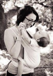 Happy mommy happy baby!  #babywearing
