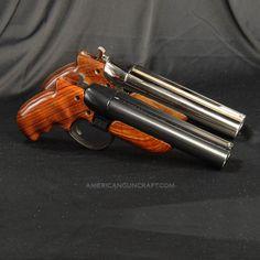 Diablo Break Open, Blued Finish, 12 Gauge Pistol, Rosewood