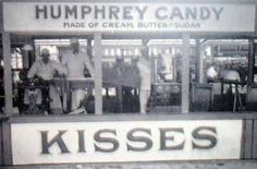Taffy kisses from Humphrey's at Euclid Beach Park, Cleveland, Ohio.