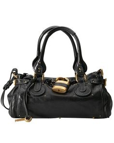 8085161a02 Chloe Paddington Leather Padlock Satchel Black - Sale! Up to 75% OFF! Shot