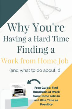 Work from home job search not going as smoothly as planned? Here's some reasons why you may be having a hard time (and how to fix them! Plus, free bonus guide: How to Find Hundreds of Legitimate Work from Home Jobs (with as little effort as possible! Earn Money From Home, Make Money Blogging, Way To Make Money, Money Tips, Saving Money, Work From Home Business, Work From Home Moms, Business Ideas, Online Business
