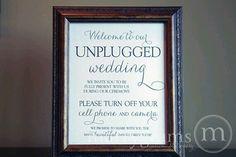 Wifi free wedding!