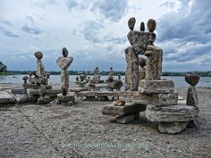 Great picture.  Rock sculptures by john Felice Ceprano in Remic Rapids, Ottawa River