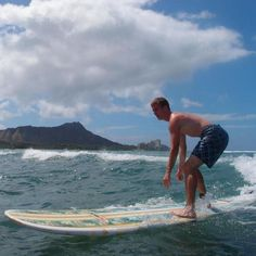 Austin Pendergist was able to spend some time this summer relaxing and surfing in Hawaii.