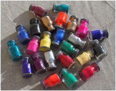 bahan pigment atau pewarna gelang karet