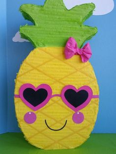 This 24 inch pinata is a great addition to your party! You can request colors to match your party theme. It will make a great decoration or centerpiece. Each pinata has a string to hang and a trap door at the back to fill with treats. Luau Theme Party, 2nd Birthday Party Themes, Hawaiian Luau Party, Hawaiian Birthday, 1st Birthday Girls, Fruit Birthday, Flamingo Birthday, Flamingo Party, Pineapple Pinata