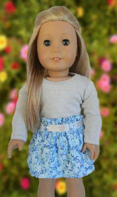 Paper Bag Skirt Tutorial for American Girl Dolls