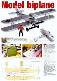 #2753 Model Biplane Plans - Wooden Toy Plans