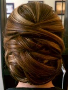 Look 1: A beautiful formal updo for a glamorous look.