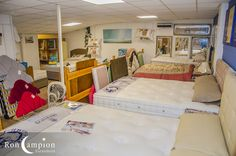 Large selection of quality beds on display in our showrooms