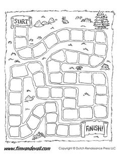 your own board game with these free printables!Make your own board game with these free printables! Board Game Template - Dinosaurs by Tim's Printables Games For Learning English, Teaching English, Kids Learning, English Games, Blank Game Board, Board Game Template, Game Boards, Life Board Game, Printable Board Games