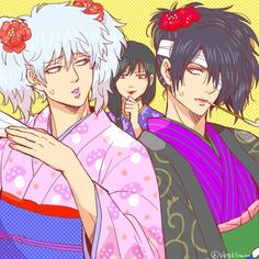 Gintama, Gintoki, Takasugi, Katsura