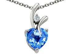 Original Star K(tm) Genuine Heart Shaped 8mm Blue Topaz Pendant in .925 Sterling Silver Star K. $79.99. Free Chain in a matching metal will be included. Free High End Jewerly Box and Gift Packaging. Guaranteed Authentic from the Star K designer line. Certificate of Authenticity Included with this item. Free Lifetime Warranty exclusively offered by Finejewelers