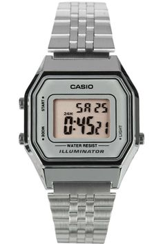 Casio Ladies Mid-Size Silver Tone Digital Retro Watch:  Why don't they make digital dress watches for women anymore?  I know I had one about 15-20 years ago.