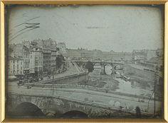 DAGUERRE Louis Jacques Mandé. Vue de Seine, vers 1839, daguerréotypie.