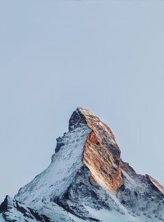 """love-england:  """"The Matterhorn, Switzerland (by abbie calvert)  """""""