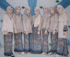 Dress batik brokat modern most popular ideas Model Kebaya Brokat Modern, Kebaya Modern Hijab, Kebaya Hijab, Kebaya Dress, Kebaya Muslim, Muslim Dress, Hijab Dress Party, Hijab Style Dress, Muslim Fashion