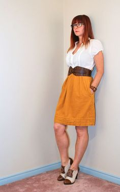 Gold and cream dress Over 40 fashion for the stylish woman.