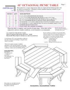 26 best octagon picnic table images carpentry woodworking do it rh pinterest com