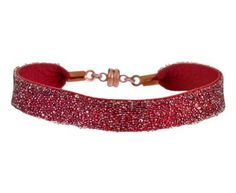 She.Rise - Red Leather and Swarovski Crystal Bangle with Copper Magnet Closure in Gift Guides The Holiday Party! at TWISTonline