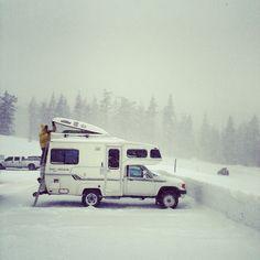 Model: Toyota Sunrader Turbo Location: Mt. Bachelor, Oregon Photo: Foster Huntington