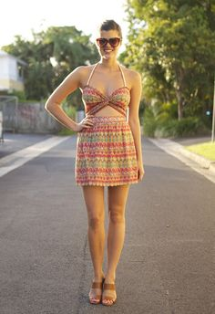 DIY. printed cut out dress.