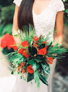 IG: @TheHermosaV Photography: Keepsake Memories Photography - http://www.stylemepretty.com/portfolio/keepsake-memories-photography Read More on SMP: http://www.stylemepretty.com/2015/12/25/emerald-isle-winter-wedding-inspiration/