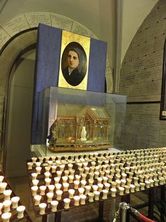 Relics of St Bernadette, Crypt Church, Lourdes, France