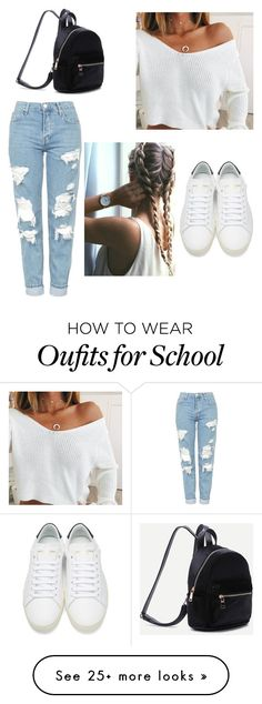 """school "" by clovdsbabe on Polyvore featuring Topshop and Yves Saint Laurent"