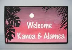 ~~~爽やかな夜明けに浮かぶモンステラの木彫りウェルカムボード~~~ハワイアンスタイルを象徴する植物の一つ・モンテスラを取り入れたウェディングウェルカムボード...|ハンドメイド、手作り、手仕事品の通販・販売・購入ならCreema。